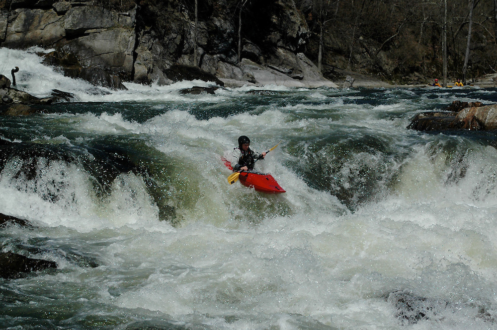 Whitewater kayaking on the Housatonic River, Bulls Bridge Section.