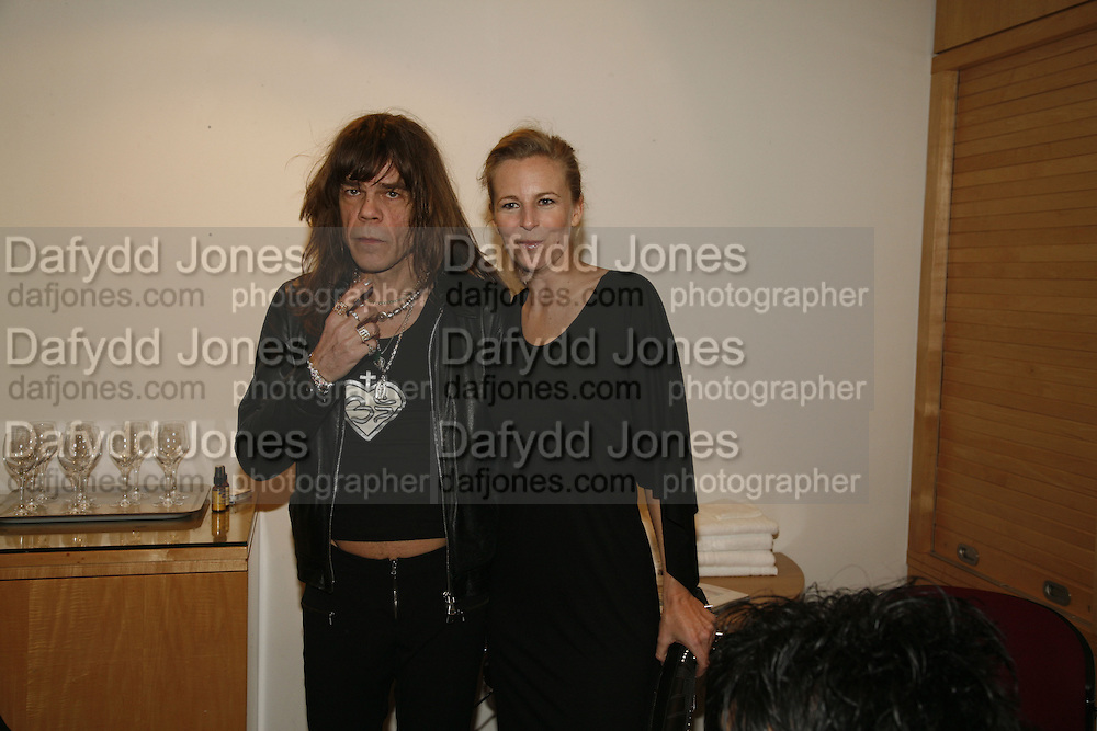 David Johansen of the NY Dolls and Alannah Weston, Future Punk Launch party at Selfridges, Oxford St. : 9th March. ONE TIME USE ONLY - DO NOT ARCHIVE  © Copyright Photograph by Dafydd Jones 66 Stockwell Park Rd. London SW9 0DA Tel 020 7733 0108 www.dafjones.com