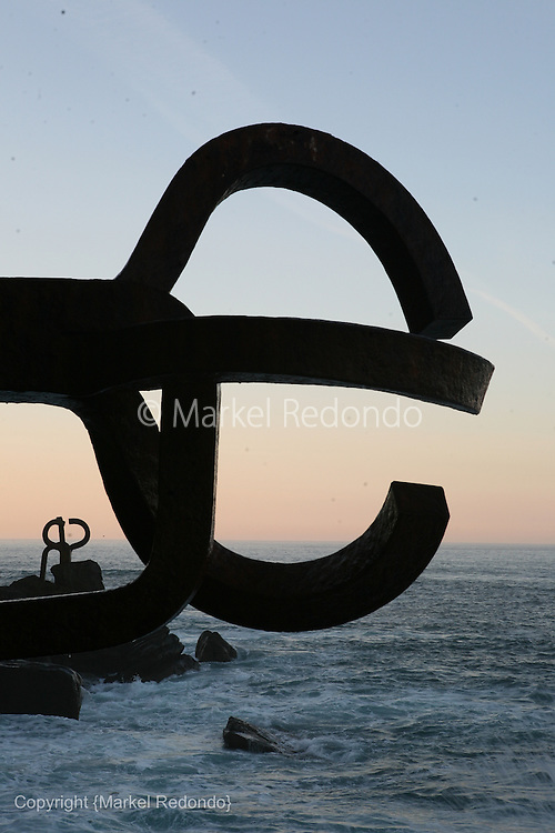 Comb of the Wind Sculpture by Eduardo Chillida in San Sebastian, Spain