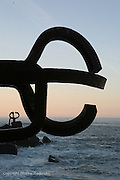 Comb of the Wind Sculpture by Eduardo Chillida in San Sebastian, Spain