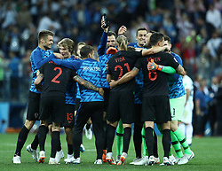 June 21, 2018 - Nizhny Novgorod, Russia - Group D Argentina v Croazia - FIFA World Cup Russia 2018.Croatia celebration at Nizhny Novgorod Stadium, Russia on June 21, 2018. (Credit Image: © Matteo Ciambelli/NurPhoto via ZUMA Press)
