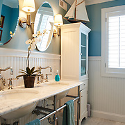 AVALON, NJ - JUNE 10, 2017: The master suite bathroom on the second floor. 4738 Ocean Dr, Avalon, NJ. Credit: Albert Yee for the New York Times