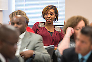 Houston ISD school leaders and staff participate in a workshop at the East Field Office, December 5, 2014.
