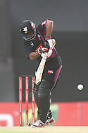 Ammar Mahmood Khan of the Faisalabad Wolves plays a delivery through the leg side during the Qualifier 5 match of the Karbonn Smart Champions League T20 (CLT20) between Faisalabad Wolves and the Kandurata Maroons held at the Punjab Cricket Association Stadium, Mohali on the 20th September 2013<br /> <br /> Photo by Shaun Roy/CLT20/SPORTZPICS<br /> <br /> <br /> Use of this image is subject to the terms and conditions as outlined by the CLT20. These terms can be found by following this link:<br /> <br /> http://sportzpics.photoshelter.com/image/I0000NmDchxxGVv4<br /> <br /> ENTER YOUR EMAIL ADDRESS TO DOWNLOAD