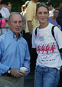 13 September 2009- NY, NY l to r: Mayor Michael Bloomberg and Uma Thurman at The Annual Komen New York City Race for the Cure held at West 77th Street and Central Park West on September 13, 2009 in New York City.  Photo credit: Terrence Jennings/Sipa Press