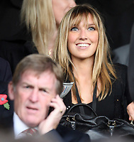 Kelly Cates, daughter of Liverpool legend Kenny in the foreground<br /> F.A. Barclays Premiership. Fulham v Liverpool. 31.10.09<br /> Photo By Karl Winter Fotosports International