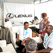 August 25, 2016, New Haven, Connecticut: <br /> Guests attend the small business luncheon in the Lexus Lounge on Day 7 of the 2016 Connecticut Open at the Yale University Tennis Center on Thursday, August  25, 2016 in New Haven, Connecticut. <br /> (Photo by Billie Weiss/Connecticut Open)