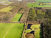 Nederland, Friesland, Gemeente Gaasterlan-Sleat, 16-04-2012; Gaasterland, onderdeel van Nationaal Landschap Zuidwest Fryslan. Lycklemabosch (Lycklemabos), Golfclub Gaasterland, Nijemirdum (Nijemardum)..Southwest Friesland.luchtfoto (toeslag), aerial photo (additional fee required).foto/photo Siebe Swart