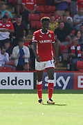 Barnsley forward Ike Ugbo (19)after scoring during the EFL Sky Bet Championship match between Barnsley and Sunderland at Oakwell, Barnsley, England on 26 August 2017. Photo by Justin Parker.