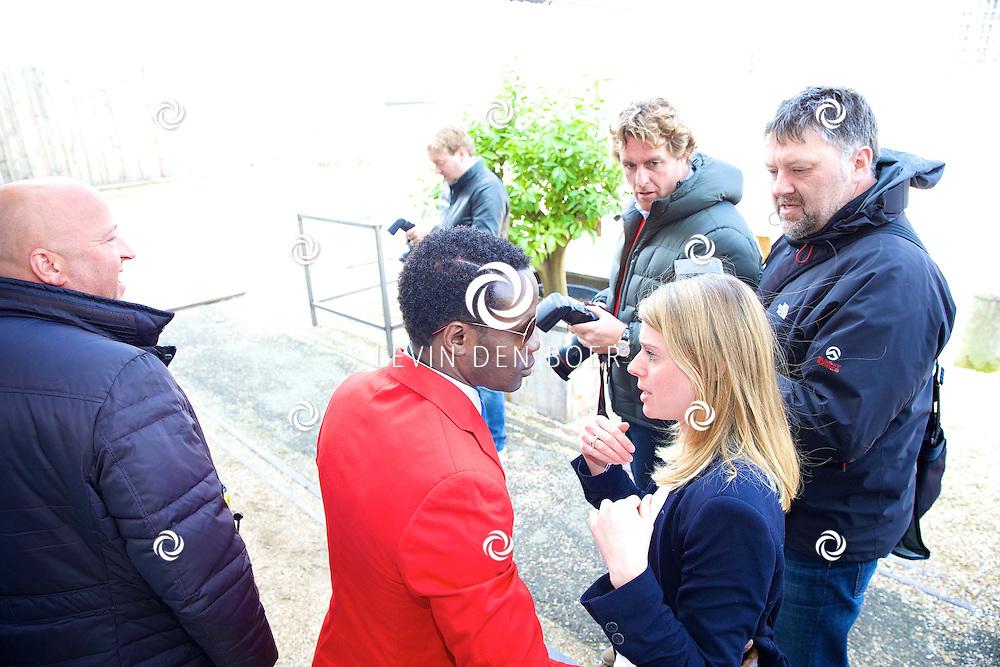 AMSTERDAM - Bij The Harbour Club werden de kandidaten voorgesteld van het SBS6 programma 'Sterren Springen'. Met hier op de foto  Regilio Tuur. FOTO LEVIN DEN BOER - PERSFOTO.NU