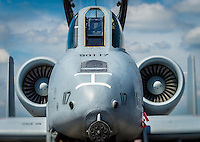 HOMESTEAD, FL - NOVEMBER 5, 2012: Close up of military aircraft, during the Wings over Homestead, taken November 5 2012.