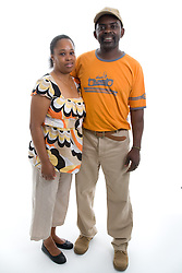 Portrait of a couple in the studio,