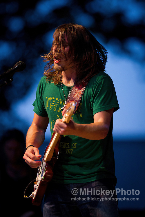 Lukas Nelson & Promise of the Real perform in concert at Foster Park in Kokomo, Indiana on July 8, 2011...Photo by Michael Hickey