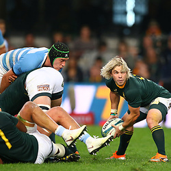 DURBAN, SOUTH AFRICA - AUGUST 18:Faf de Klerk of South Africa during the Rugby Championship match between South Africa and Argentina at Jonsson Kings Park on August 18, 2018 in Durban, South Africa. (Photo by Steve Haag/Gallo Images)