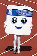 1.7.2012, Olympiastadion - Olympic Stadium, Helsinki, Finland..European Athletics Championship - Yleisurheilun EM-kisat..Appy-kisamaskotti radalla.