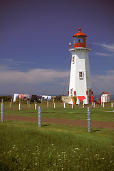 Magdalen Islands, Quebec:  Bassin Lighthouse of L'Anse-a-la-Cabane, on Ile du Havre Aubert.