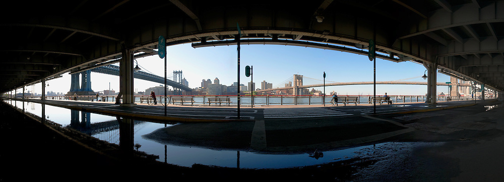 View on two Bridges from under FDR.