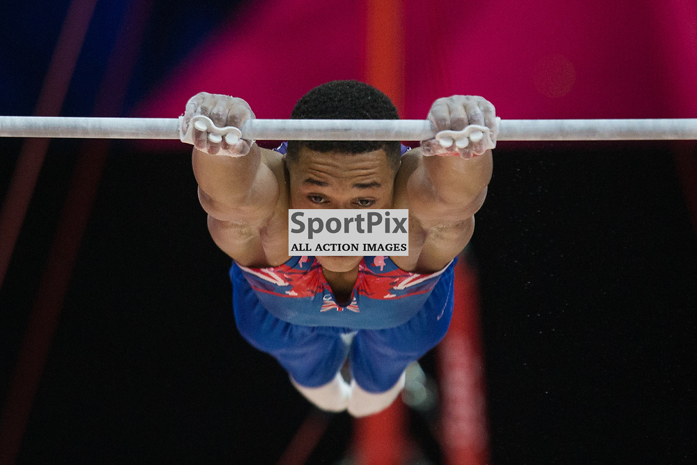 Joe Fraser of Great Britain competes in the Gymnastics Team Men Qualification - 2018 European Championships Glasgow, 9 August 2018. (c) Adam Oliver | sportPix.org.uk