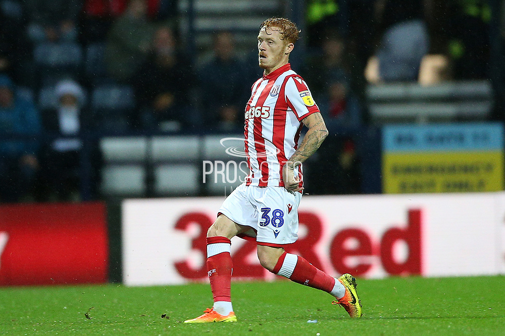 Stoke City midfielder Ryan Woods (38) during the EFL Sky Bet Championship match between Preston North End and Stoke City at Deepdale, Preston, England on 21 August 2019.