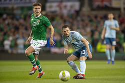 November 15, 2018 - Dublin, Ireland - Jeff Hendrick of Ireland and Corry Evans of N.Ireland during the International Friendly match between Republic of Ireland and Northern Ireland at Aviva Stadium in Dublin, Ireland on November 15, 2018  (Credit Image: © Andrew Surma/NurPhoto via ZUMA Press)
