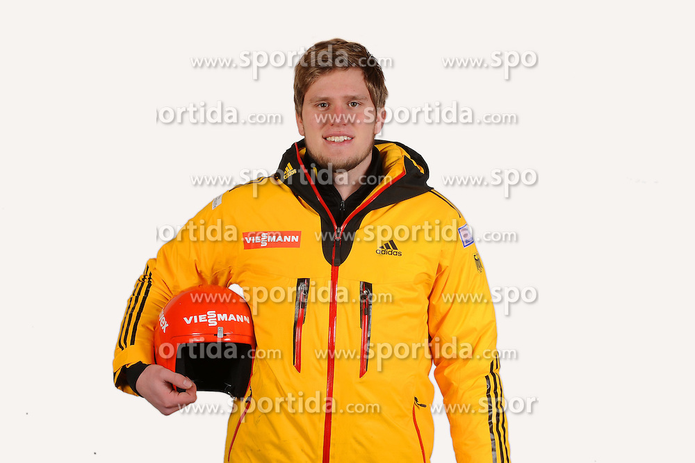 03.01.2014, Kunsteisbahn, Koenigssee, GER, BSD, Rennrodler Team Deutschland, Portrait, im Bild Julius Loeffler (SSV Altenberg) // during Luge athletes of team Germany, Portrait Shooting at the Kunsteisbahn in Koenigssee, Germany on 2014/01/04. EXPA Pictures © 2014, PhotoCredit: EXPA/ Eibner-Pressefoto/ Stuetzle<br /> <br /> *****ATTENTION - OUT of GER*****