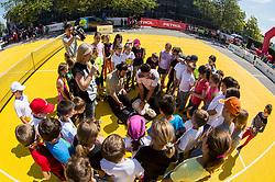 "Fan tennis event for kids named ""Play tennis"" by Tenis Slovenija, on May 21, 2017 in BTC - Millenium centre Ljubljana, Slovenia. Photo by Vid Ponikvar / Sportida"