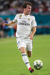 Real Madrid midfielder Alvaro Odriozola (19) controls the ball during the second half against Manchester United during International Champions Cup action at Hard Rock Stadium in Miami Gardens, FL, USA on Tuesday, July 31, 2018. Manchester United won, 2-1. Photo by Sam Navarro/Miami Herald/TNS/ABACAPRESS.COM