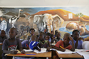 Children attend school in Purros, Kaokoland, Northern Namibia..© Zute and Demelza Lightfoot.www.lightfootphoto.com