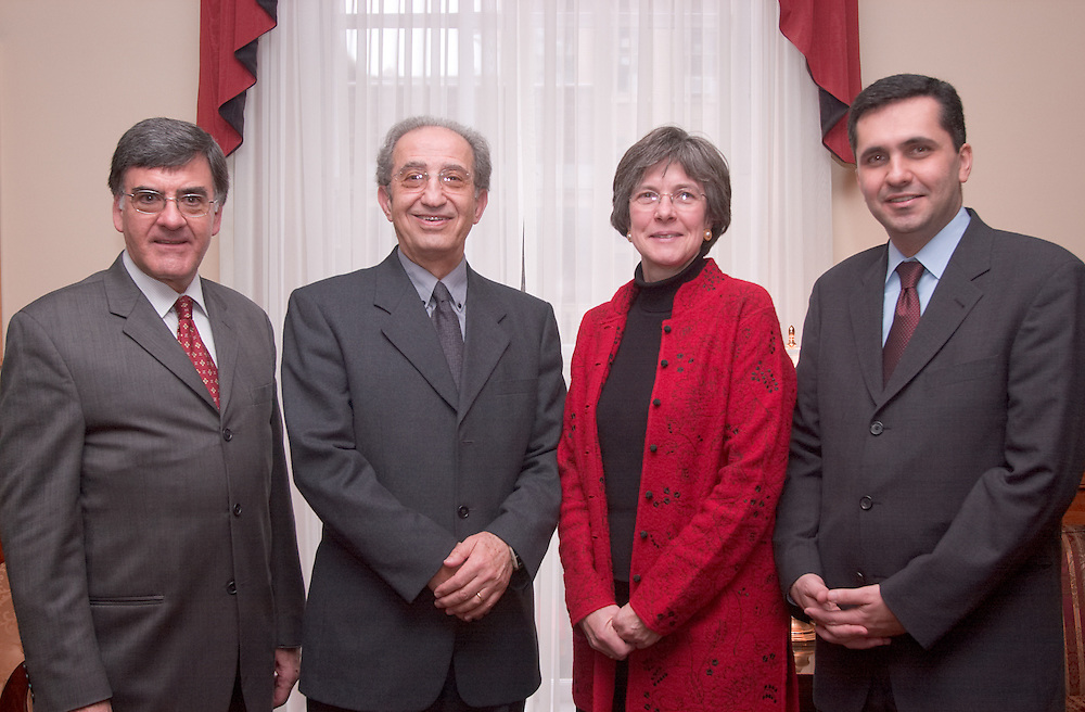 "As for the people in the picture: from the left.       Josep Rota; O.U. Associate Provost for International Programs.       Shihadeh Nayfeh, Provost of the Lebanese International University.       Kathy Krendl, Provost, O.U..       Samir Abou-Nassif, Vice President for Administrative Affairs,.Lebanese International University..Abou-Nassif is ""Mr."" The other three are ""Dr."" -- in case you to use titles."