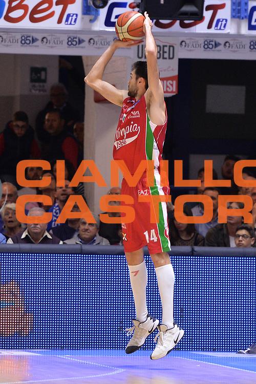Pascolo Davide<br /> Enel Brindisi - EA7 Emporio Armani Milano<br /> BASKET Serie A 2016-2017<br /> Brindisi 15/04/2017<br /> FOTO CIAMILLO / M.Longo
