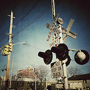 A railway crossing in New Jersey
