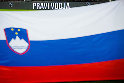 Slovenian flag during friendly football match between National teams of Slovenia and Belarus, on March 27, 2018 in SRC Stozice, Ljubljana, Slovenia. Photo by Vid Ponikvar / Sportida