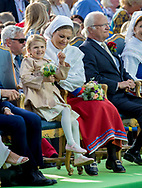 Borgholm, 14-07-2017 <br /> <br /> <br /> Crown Princess Victoria celebrates her 40th birthday at the stadium of Bornholm at Oland.<br /> <br /> COPYRIGHT: ROYALPORTRAITS EUROPE/ BERNARD RUEBSAMEN