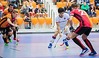 ROTTERDAM  - NK Zaalhockey,   halve finale heren Oranje Rood-SCHC (SCHC wint en plaatst zich voor de finale)  Roderick Tam (SCHC) .   COPYRIGHT KOEN SUYK