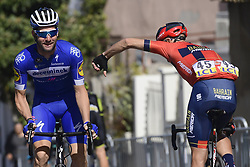 March 15, 2019 - Brignoles, France - BRIGNOLES, FRANCE - MARCH 15 : SABATINI Fabio (ITA) of DECEUNINCK - QUICK - STEP and KOREN Kristijan (SLO) of BAHRAIN - MERIDA pictured during stage 6 of the 2019 Paris - Nice cycling race with start in Peynier and finish in Brignoles  (176,5 km) on March 15, 2019 in Brignoles, France. (Credit Image: © Panoramic via ZUMA Press)