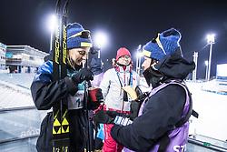 February 13, 2018 - Stockholm, Sweden - OS 2018 i Pyeongchang. Sprint, damer. Stina Nilsson, längdskidÃ¥kare Sverige, vann. Med middag efter guldet, gröt. tävling action landslaget guld (Credit Image: © Orre Pontus/Aftonbladet/IBL via ZUMA Wire)