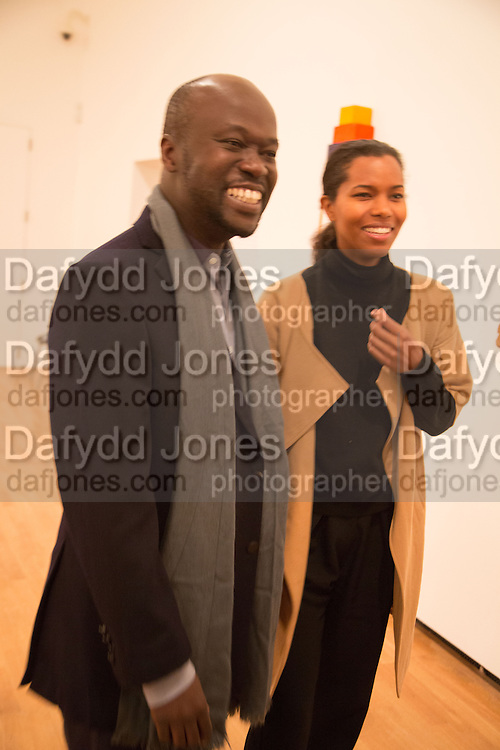 DAVID ADJAYE; ASHLEY SHAW-SCOTT; , Gala Opening of RA Now. Royal Academy of Arts,  8 October 2012.