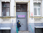 Kiev, Ukraine <br /> people and places, churches and street art around Kiev city centre which hosts the Eurovision Song Contest on 13th May 2017 at the International Exhibition Centre in Kiev, Ukraine<br /> Botox Bar <br /> Kiev in Ukraine <br /> <br /> Photograph by Elliott Franks <br /> Image licensed to Elliott Franks Photography Services