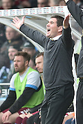 Burton Albion Manager Nigel Clough during the Sky Bet League 1 match between Scunthorpe United and Burton Albion at Glanford Park, Scunthorpe, England on 9 April 2016. Photo by Ian Lyall.