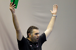 Head coach of Slovenia Boris Denic during handball match between National teams of Slovenia and Portugal in the Qualifications of the EHF EURO 2012, on October 27, 2010 at Arena Zlatorog, Celje, Slovenia. Slovenia defeated Portugal 34 - 31.(Photo By Vid Ponikvar / Sportida.com)