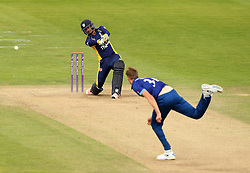 Durham's Usman Arshad plays a shot onto the offside - Mandatory by-line: Robbie Stephenson/JMP - 07966386802 - 04/08/2015 - SPORT - CRICKET - Bristol,England - County Ground - Gloucestershire v Durham - Royal London One-Day Cup