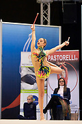 Lucia Bellavista from Gymnica 96 team during the Italian Rhythmic Gymnastics Championship in Padova, 25 November 2017.
