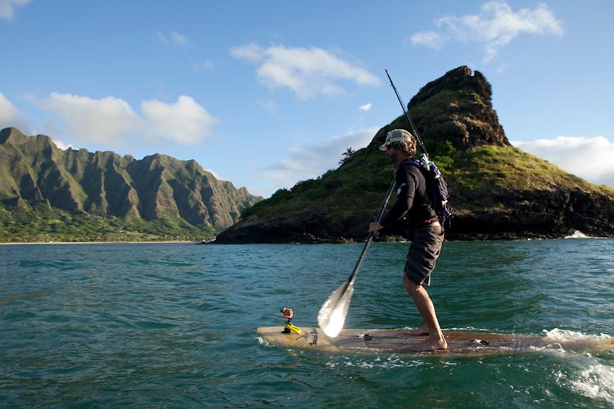Kualoa and Mokolii Stand up paddle early morning