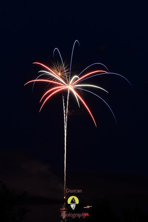 BATH, Maine -- 7/5/15 -- Bath Heritage Days Fireworks. Photo © 2015 Roger S. Duncan