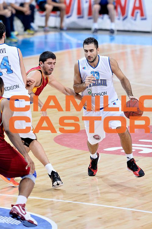 DESCRIZIONE : Skopje Nazionale Italia Uomini Torneo Internazionale di Skopje Italia Macedonia Italy FYROM<br /> GIOCATORE : Pietro Aradori<br /> CATEGORIA : Palleggio<br /> SQUADRA : Italia Italy<br /> EVENTO : Trofeo Internazionale di Skopje<br /> GARA : Italia Macedonia Italy FYROM<br /> DATA : 26/07/2014<br /> SPORT : Pallacanestro<br /> AUTORE : Agenzia Ciamillo-Castoria/GiulioCiamillo<br /> Galleria : FIP Nazionali 2014<br /> Fotonotizia : Skopje Nazionale Italia Uomini Torneo Internazionale di Skopje Italia Macedonia Italy FYROM