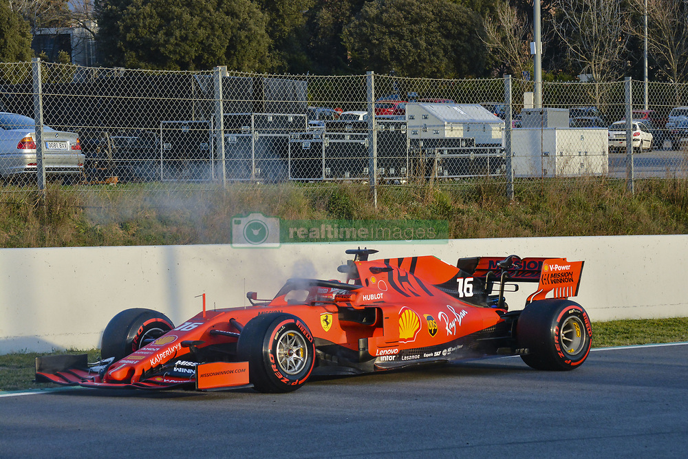 February 28, 2019 - Barcelona, Catalonia, Spain - Charles Leclerc Ferrari incident during F1 test celebrated at Circuit of Barcelona 28th February 2019 in Barcelona, Spain. (Credit Image: © Marc Vinals/NurPhoto via ZUMA Press)