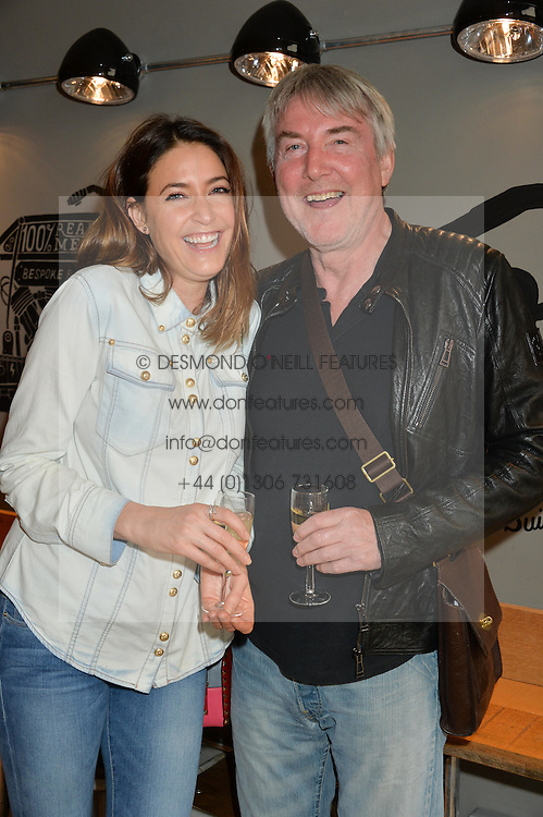 LISA SNOWDON and her father NIGEL SNOWDON at a party to celebrate the launch of Top Dog at 48 Frith Street, Soho, London on 27th May 2015