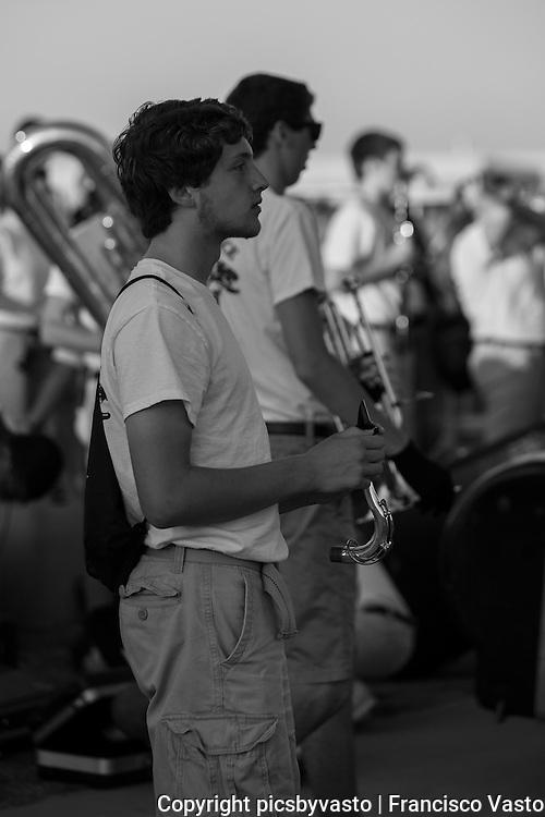 Providence High School Marching Band prepares and performs for the Providence High School vs Porter Ridge High School Friday night football game.