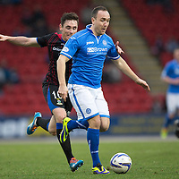 St Johnstone v Inverness Caledonian Thistle....22.02.14    SPFL<br /> Lee Croft gets away from Greg Tansey<br /> Picture by Graeme Hart.<br /> Copyright Perthshire Picture Agency<br /> Tel: 01738 623350  Mobile: 07990 594431