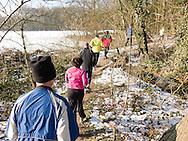 Nederland, Vught, 20120211..Loopschool Wim Akkermans.Running in de sneeuw